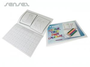 Colouring Calendar and Pencils Sets
