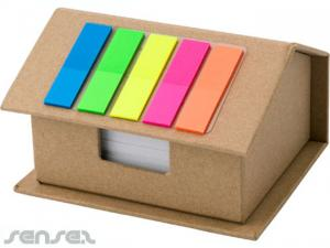 Sets Haus geformt Sticky Note & Flag