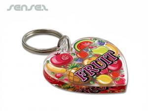 Heart Shaped Acrylic Keyrings