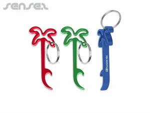 Funky Bottle Opener Key Rings Palm Tree