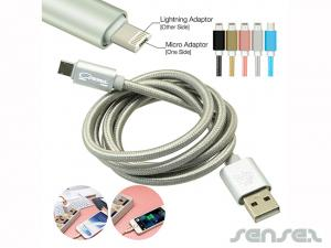 Universal USB Charging Cables- Metallic