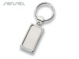 Nix Metal Rectangle Keyrings
