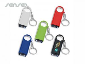 Key Rings With Light + Magnifier