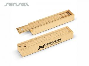 Wooden Pencil Case With Ruler