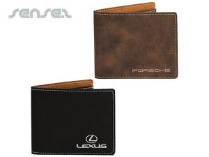 Suede Leatherette Wallets