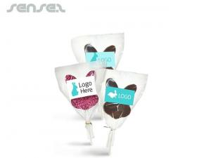 Chocolate Bunny Ears On A Lollipop Stick
