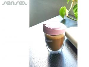 Thermo Takeaway Glass Coffee Cups 355ml