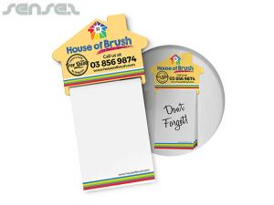 House Shaped Magnetic Notepads A7