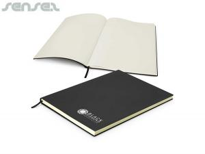 Amaya Unlined Leatherette Notebooks A4