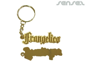 Shaped Metal Word Keyrings