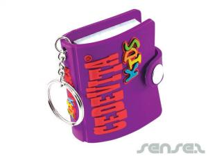 PVC Rubber Notebook Key Chains