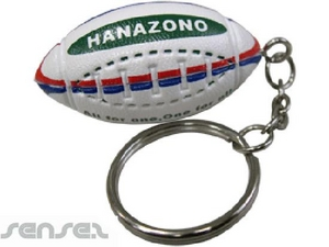 Ball Shaped Keyrings - Rugby