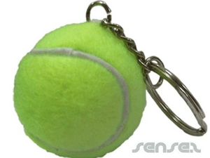 Ball Shaped Keyrings - Tennis Ball