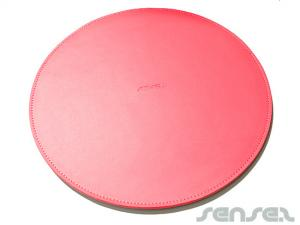 leather mousemat round