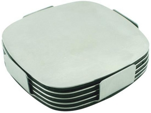 Set Of 4 Stainless Steel Coasters