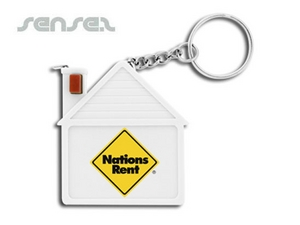 Measuring Tape Key Chains - House