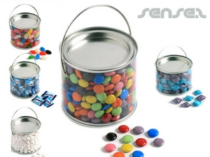 Clear Tin Filled with Lollies (500ml)