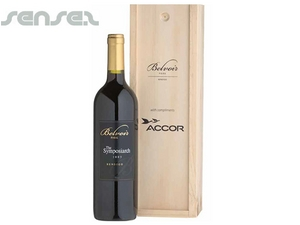 Wine in Single Pine Gift Box