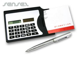 Businesscard Holder with Calculator and Pen
