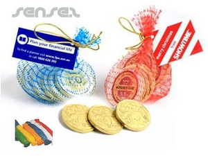 Chocolate Coins Money Bags