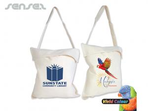 Calico Single Handle Library Bags