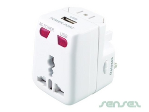 Universal Adaptor With USB Charger