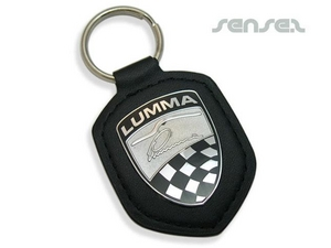 Padded Leather Key Chains With Tag