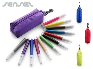 Mini Coloured Felt Tip Pens in Pouches