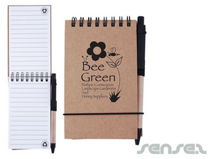 Eco Notepads with Pen A6
