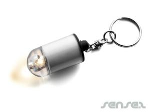 Mini Torch Keyring Bullets