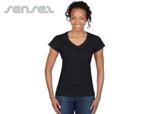 Ladies V Neck T-Shirts (Euro Fit)
