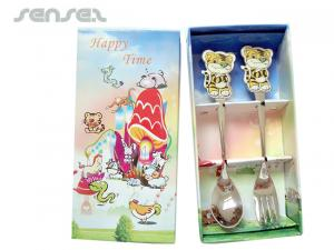 Souvenir Teaspoons or Forks in Gift Box