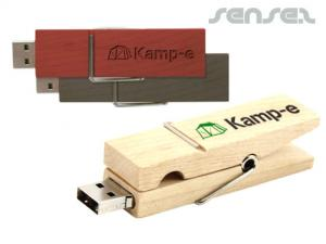 Wooden Peg USB Sticks (2GB)