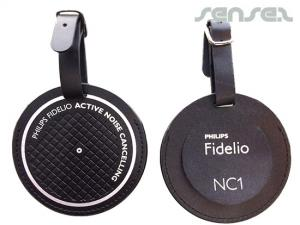 Round Leather Luggage Tags (debossed)