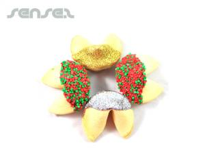 Xmas Dipped Fortune Cookies