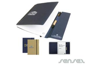 Eco Tucker Notebook & Pen Sets (A5)