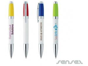 Multi-Colour Twist Pens (White)