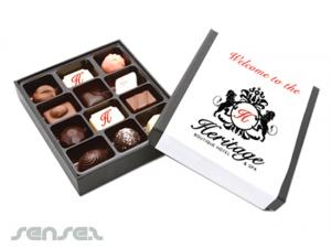 Large Belgian Truffle Boxes (12 pc)