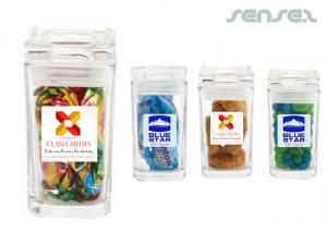Mini Glass Confectionery Jars