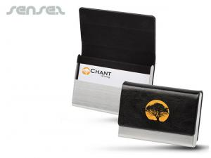 Stainless & Leather Business Card Holders